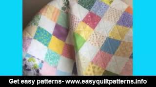 basic quilt patterns for beginners free easy scrap quilt block patterns