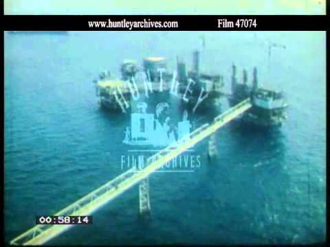 Indonesia.  Offshore oil rig.  Archive film 47074