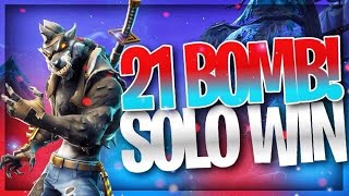 Fortnite 21 Kill Solo Win | Dire Skin Gameplay (Fortnite battle royal)