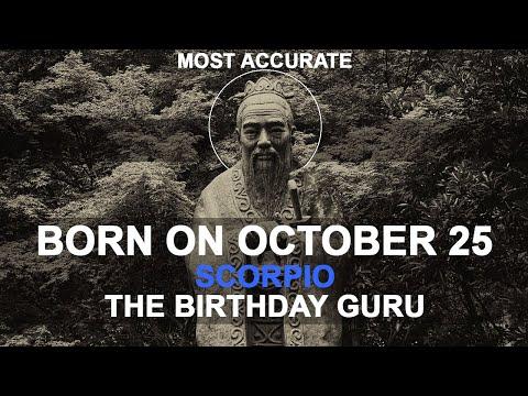 Born on October 25 | Birthday | #aboutyourbirthday | Sample