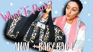 WHATS IN MY HOSPITAL BAG? & BABY'S HOSPITAL BAG?   WHAT TO PACK LABOUR & DELIVERY   36 Weeks