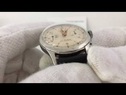 Vintage Philos Suisse Chronograph Men's Watch Landeron 48 1960s