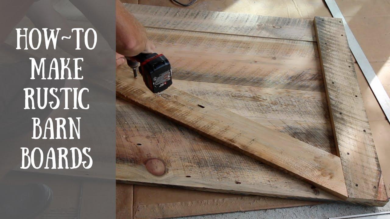 Diy Rustic Barn Board Project 🔨 Youtube