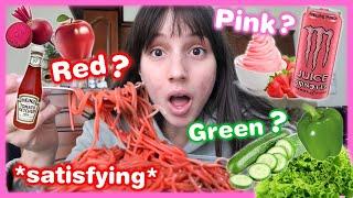Τρώω μόνο φαγητά με ένα χρώμα για 24 ώρες | Marianna Grfld