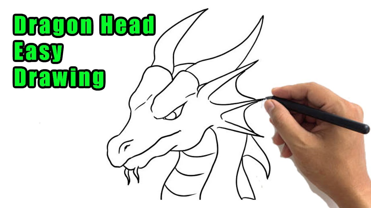 How To Draw A Dragon Head Drawing Easy Dragon Face Step By Step Side View Sketch For Beginners Youtube