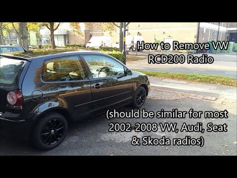 VW/Audi Radio Removal (Double DIN)