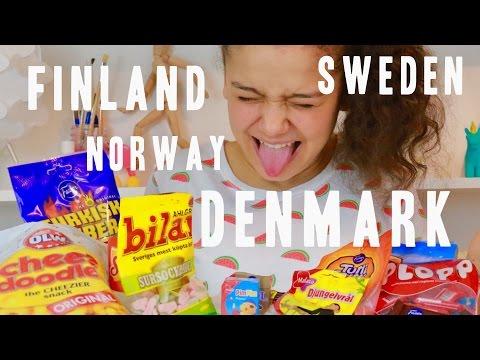 Swedish Candy Taste Test | Djungelvrål Smagstest | Svenska Undertexter | Ambi C Vlog