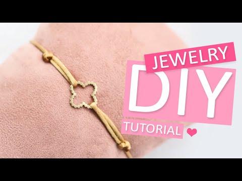 Sieraden maken: Verstelbare sieraden knoop maken met satijn draad