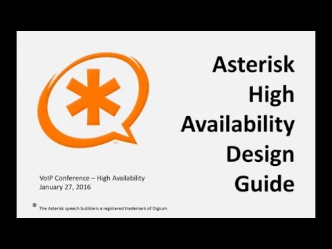 Asterisk High Availability Design Guide