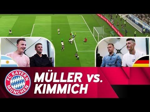 Thomas Müller vs. Joshua Kimmich | FIFA 18 Exhibition Match