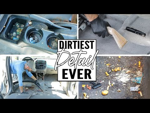 Complete Disaster Full Interior Car Detailing Transformation! Dirtiest Car Detailing Series Ep. 4