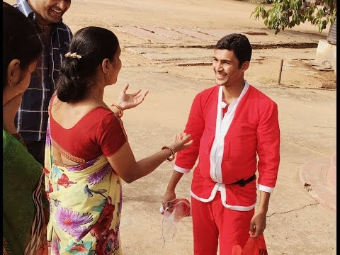 """""""How I Met My Mother"""" as SANTA CLAUS after 500 days!!!  NRI's Surprise visit."""