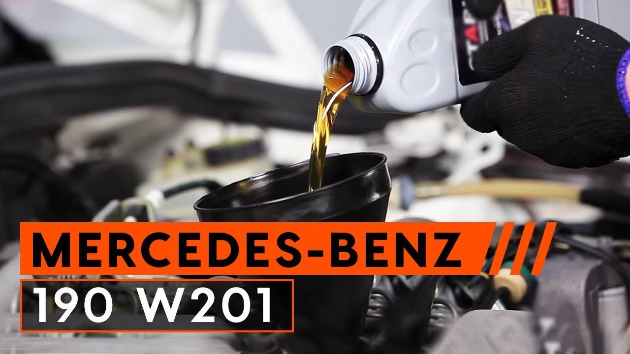 Как да сменим моторно масло и маслен филтър наMERCEDES BENZ 190 W201 [ИНСТРУКЦИЯ]