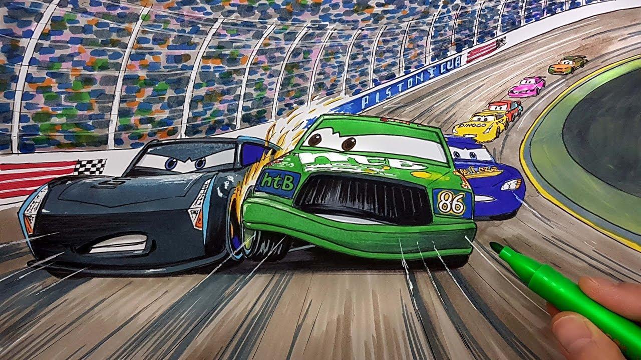 Draw Chick Hicks vs Jackson Storm Cars 3 2.0 Step by step ...