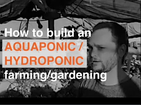 Video on How to build an AQUAPONIC / HYDROPONIC  farming - gardening