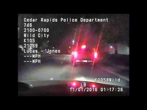 Cedar Rapids Police Dashcam Footage