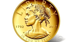 A new $100 gold coin depicts Lady Liberty as an African-American woman.