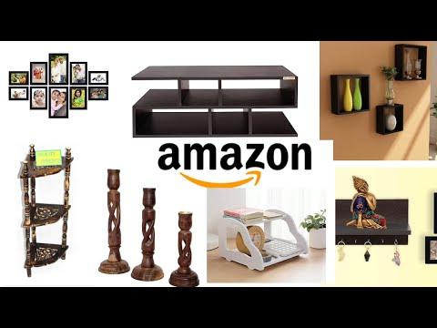 Amazon Wooden Decor And Furniture Haul   Amazon का लकड़ी का Furniture और सजावट का समान