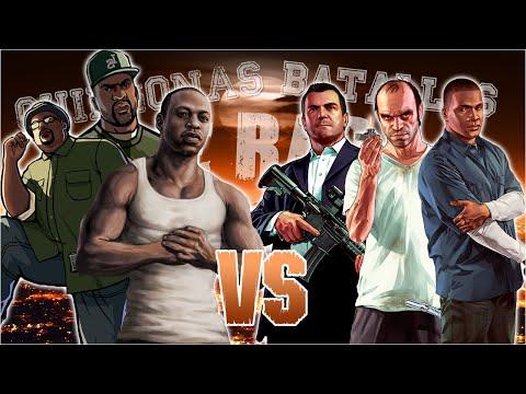 GTA 5 vs GTA San Andreas. Chingonas Batallas de Rap de Titanes | Zoiket ft. Raplion, Ykato & Darck