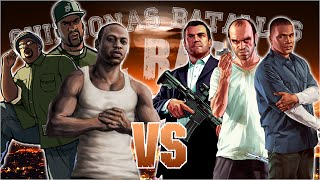 Repeat youtube video GTA 5 vs GTA San Andreas. Chingonas Batallas de Rap de Titanes | Zoiket ft. Raplion, Ykato & Darck