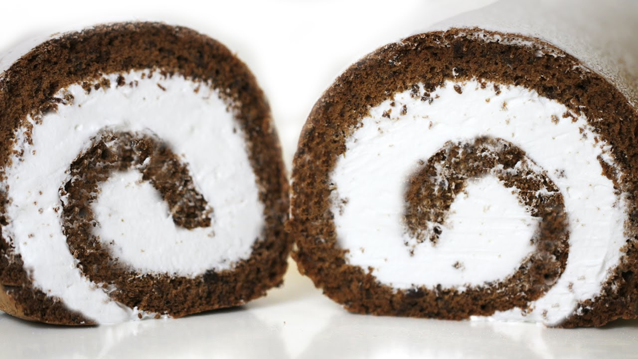 Jelly Roll Cake Recipe And Procedure: How To Make Chocolate Cake Roll 롤케이크 만들기