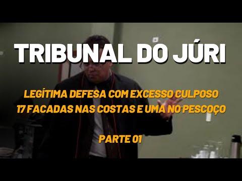 Tribunal do Júri - Tese Legítima Defesa com Excesso Culposo. Vídeo 01 de 03