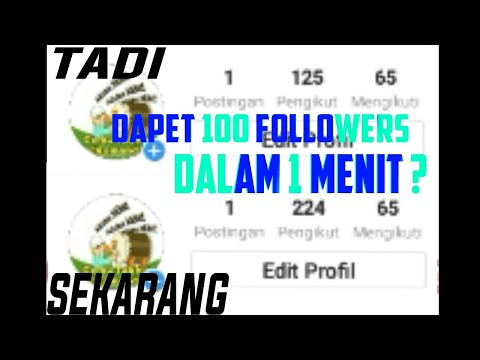 Dapet 100 Followers Instagram Dalam 1 Menit ? Tonton Video ini - 동영상