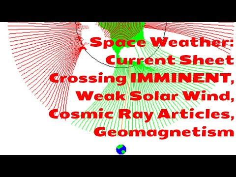 Space Weather: Current Sheet Crossing IMMINENT, Weak Solar Wind, Cosmic Ray Articles, Geomagnetism