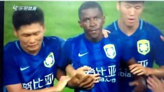 現在、中国スーパーリーグの江蘇蘇寧でプレーするブラジル人MFラミレス...