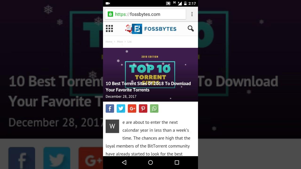 top ten torrent sites december 2018