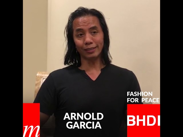 Watch Arnold Garcia's message on Fashion for Peace