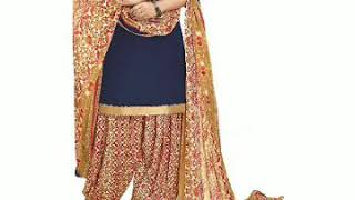 Latest Patiala Punjabi salwar suit design for women..