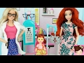 Little Mermaid Ariel's Daughter Cant See! visits Barbie Eye Doctor -Titi Toys and Dolls