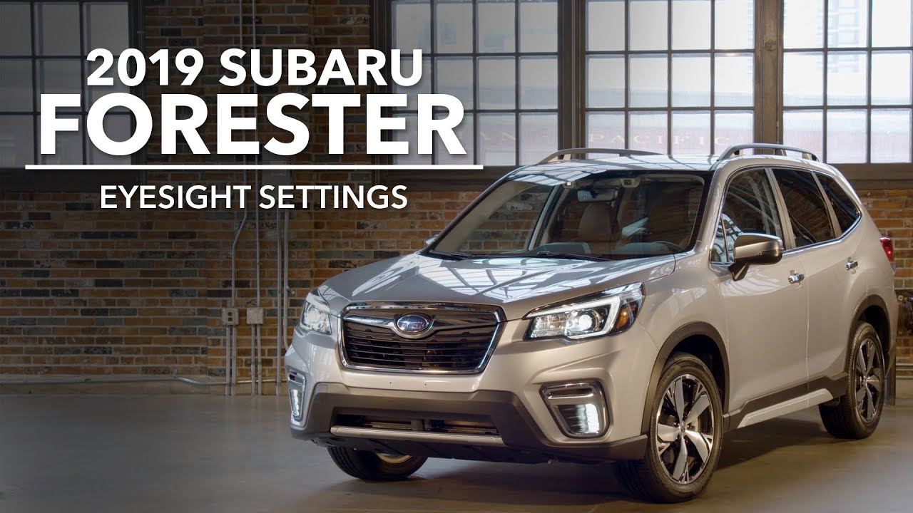 Subaru Eyesight Video >> 2019 Subaru Forester Eyesight Settings