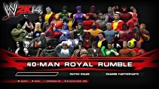 wwe 2k14 royal rumble season finale marvel vs dc