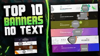 Top 10 YouTube Channel Banner Template No Text PC/Mobile 2021