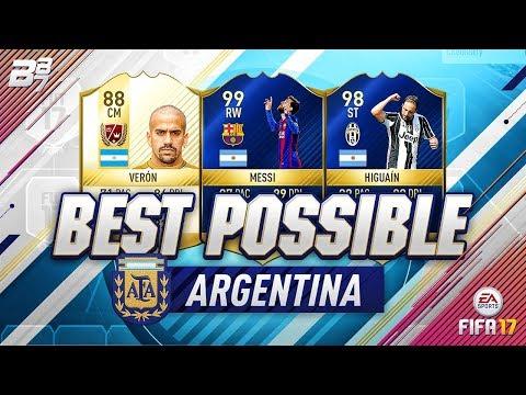 BEST POSSIBLE ARGENTINA TEAM! w/ TOTS MESSI AND TOTS HIGUAIN! | FIFA 17