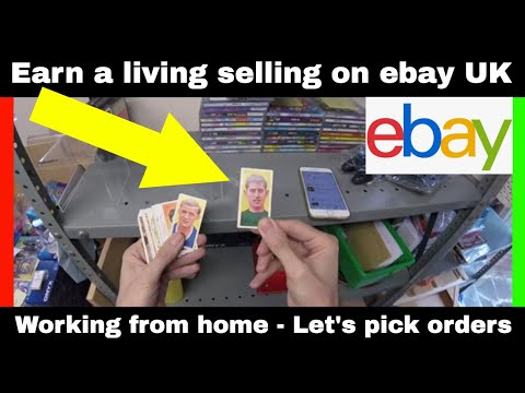 Earn A Living Selling On Ebay Uk Working From Home Let S Pick Orders Youtube