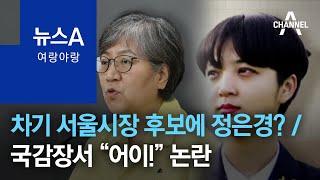 [여랑야랑]차기 서울시장 후보에 정은경? / 국정감사장…