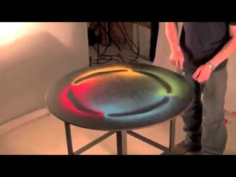 AMAZING High Frequency sound makes ART!