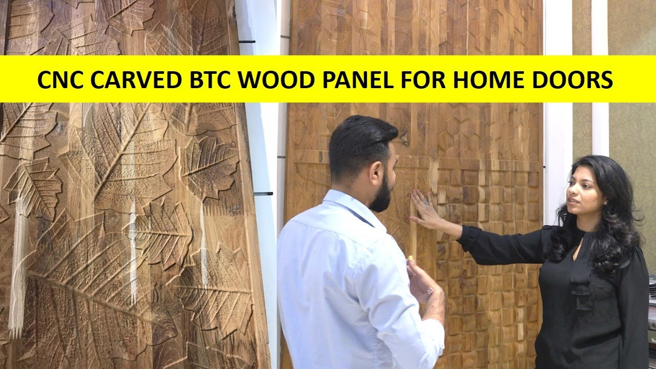 CNC Carved BTC Wood Panel For Home Doors | CNC Cutting Door Design | Interior Iosis by Nihara
