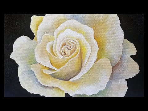 ROSE Painting Tutorial Step by Step LIVE Free Acrylic Fine Art Lesson