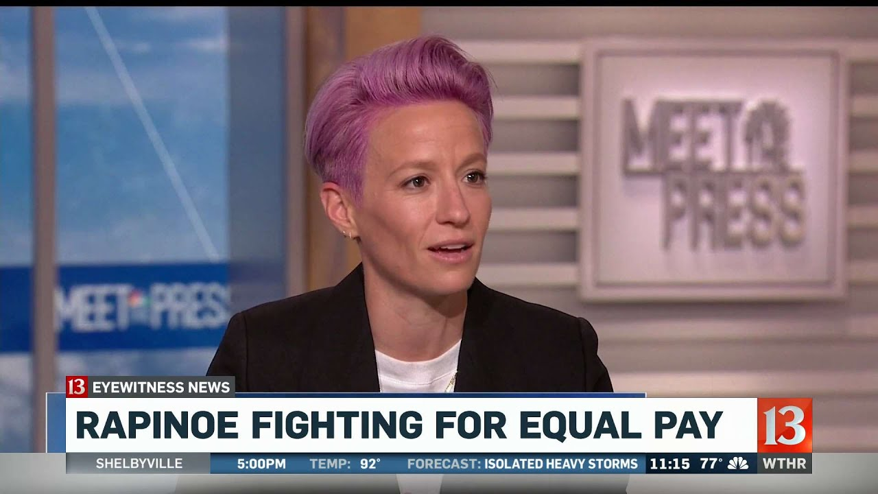 Megan Rapinoe Fighting for Equal Pay - YouTube