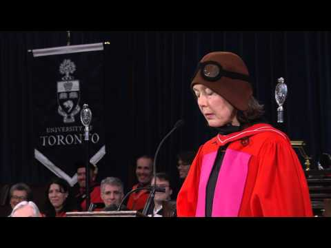 University of Toronto: Anne Carson, Convocation 2012 Honorary Degree recipient