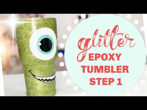 The BEST CUP TURNING Step 1 - Epoxy and Glitter!