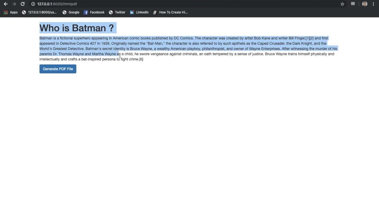 Laravel PDF Generator Example | HTML To PDF | Download PDF