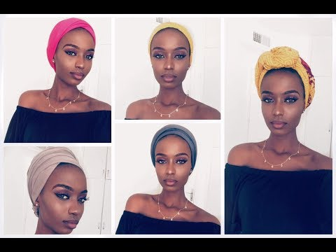 HOW TO STYLE A TURBANSCARF  9 QUICK AND EASY WAYS TO TIE TURBANSCARFS
