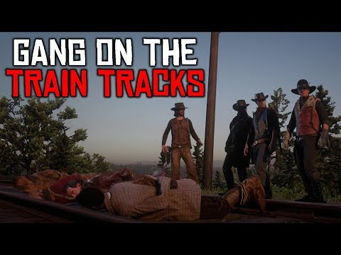 RED DEAD ONLINE | PUTTING GANG ON TRAIN TRACKS - OUTLAWS #19