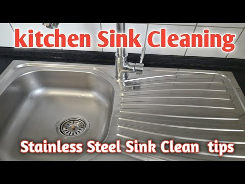How to clean Kitchen Sink | How to clean Stainless Steel Sink and Sink area | kitchen tips Sink |