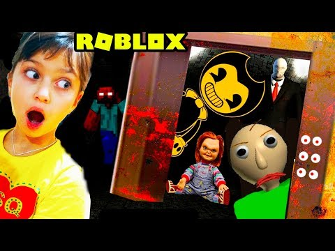 ЗАСТРЯЛИ в СТРАШНОМ ЛИФТЕ в РОБЛОКС! Roblox Scary elevator Балди, Бенди, Привет сосед Валеришка kids